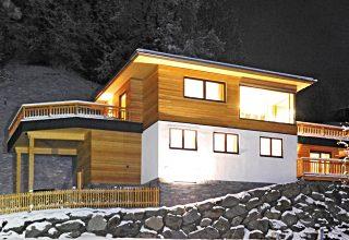 Selbstversorgerhütte: Die Außenansicht vom Chalet im Klemmtal