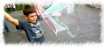 Riesenseifenblasen mit simcha