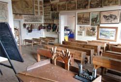 historische Schulklasse auf Schloss Porcia