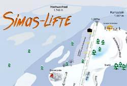 Simas-Lifte - Pistenplan Ausschnitt