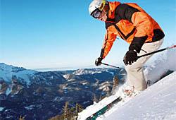 Schifahrer in Mitterbach