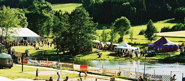 Festival-Gelände am Afrikafestival in Harbach