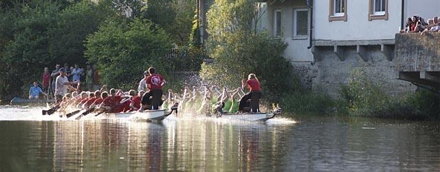Drachenbootrennen auf der Thaya bei Raabs