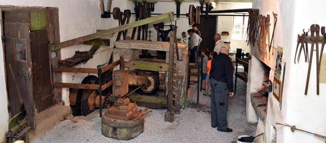 In der Schmiede beim Hammerwerk am Kamp bei Arbesbach