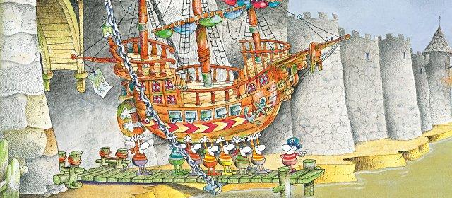 Das Piratenschiff - Ausstellung Mordillo im Karikaturmuseum Krems