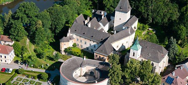 Blick auf Schloss Pöggstall
