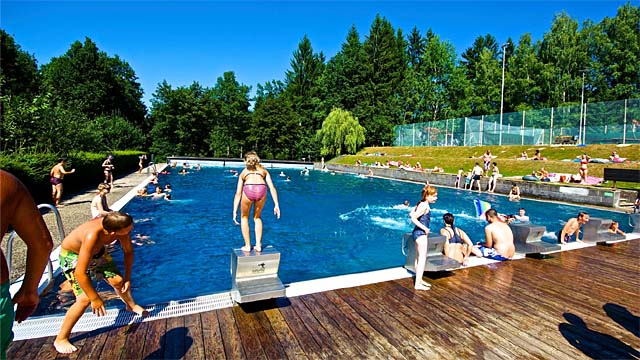 Schwimmbecken am Herrensee bei Litschau