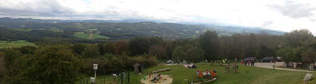 Panorama vom Aussichtsturm am Buchberg