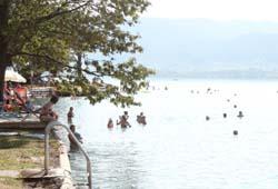 Öffentlicher Badeplatz in Weyregg
