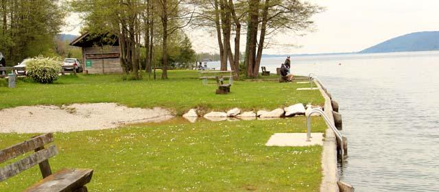 Öffentliche Badeanlage Zeller Aufsatz in Nußdorf am Attersee