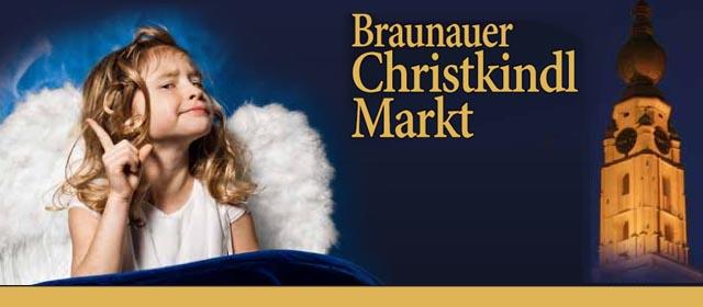 Engerl am Christkindlmarkt in Braunau am Inn