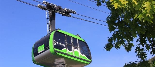 Gondel der Grünbergbahn in Gmunden