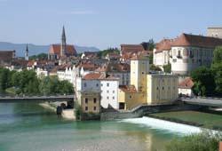 Blick auf die historische Stadt Steyr