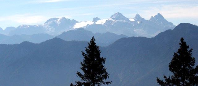 Assicht von der Katrin zum Dachstein samt Gletscher