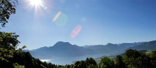 Panorama vom Naturpark Attersee Traunsee