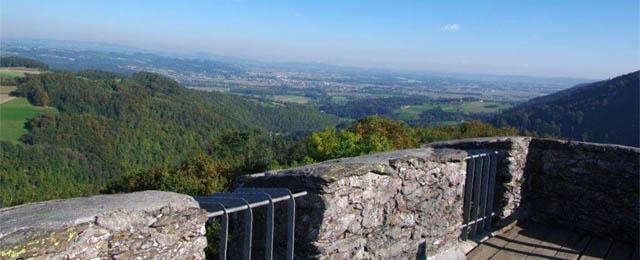 Panorama von der Ruine Stauf