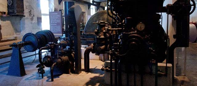 Wasserkraftwerk im Papiermachermuseum Laakrichen