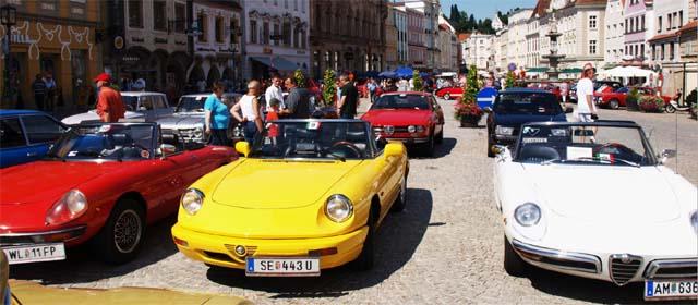 Alfa Romeo am Stadtplatz in Steyr