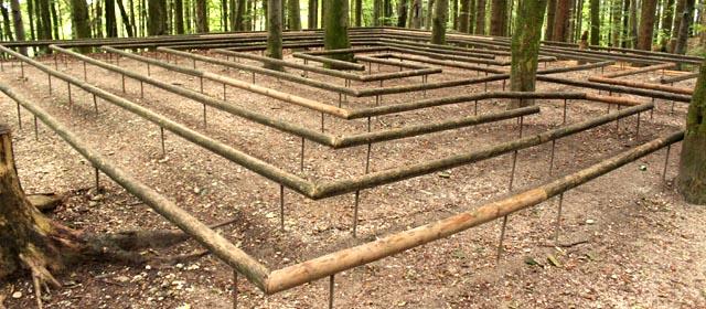 Labyrinth im Weg der Sinne in Haag am Hausruck