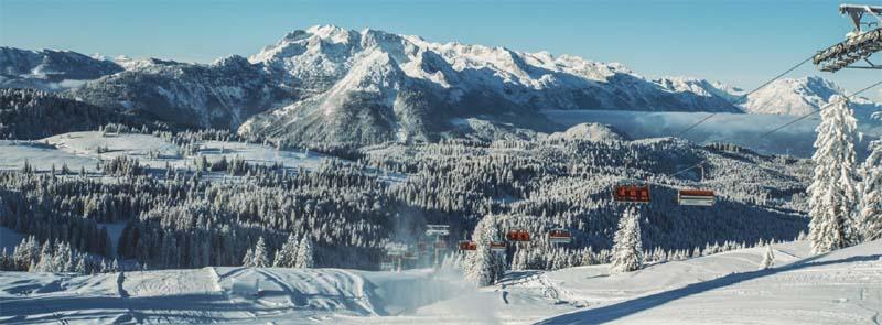 Panorama der Bergbahnen Dachstein West