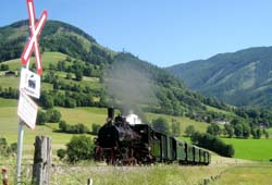 Dampfzugfahrt mit der Pinzgauer Lokalbahn