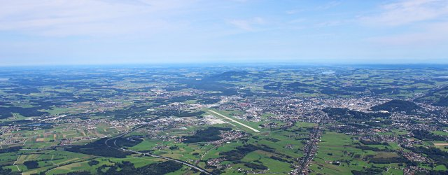 Aussicht vom Untersberg in Grödig / Gartenau