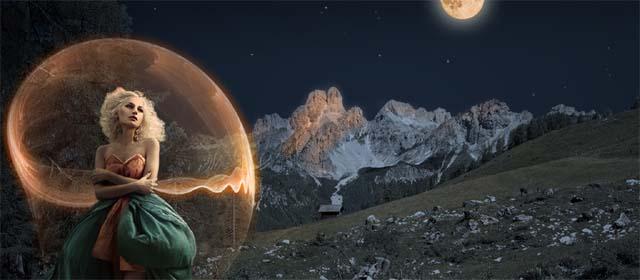 Landschaft in der Nacht rund um Filzmoos