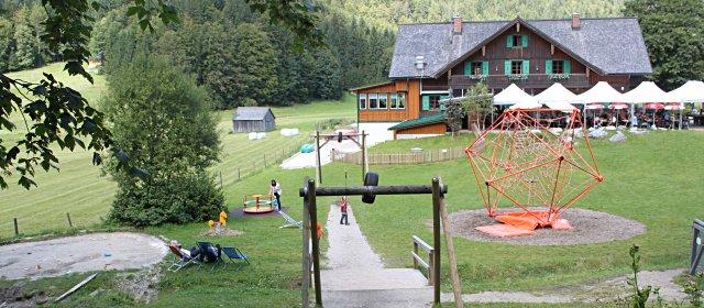 Kinderspielplatz auf der Blaa-Alm in Altaussee