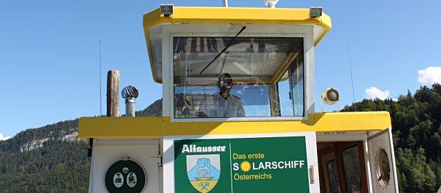 Solarschiff Altausee Schifffahrt