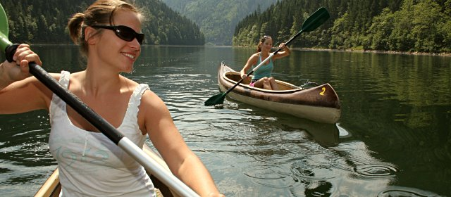 Bootfahren am Salza Stausee