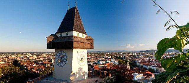 Grazer Schlossberg Mit Uhrturm