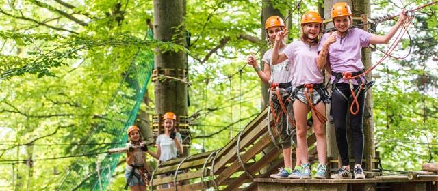 tolle Parcours im WIKI Adventure Park in Graz