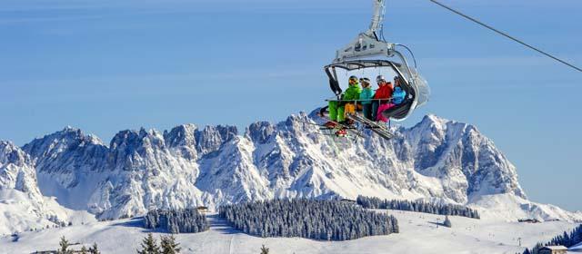 Am Sessellift in der SkiWelt Wilder Kaiser im Brixental