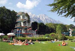 Freibad in Hall in Tirol