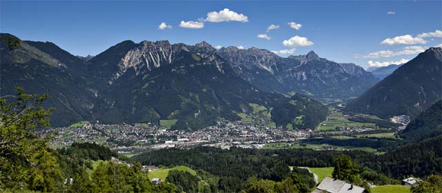 Blick auf die historische Stadt Bludenz