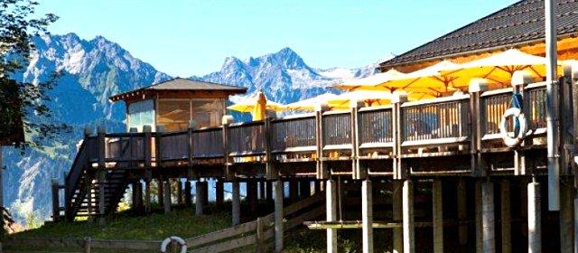 Kinderspielplatz beim Alpengasthof Muttersberg in Bludenz
