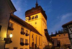 Martinsturm bei Nacht in Bregenz