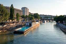 Der Donaukanal in Wien