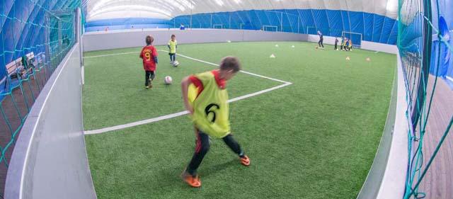 Indoor Fußballspielen im Soccerdome