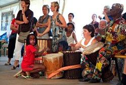 Trommelworkshop bei den Afrika Tagen auf der Donauinsel in Wien