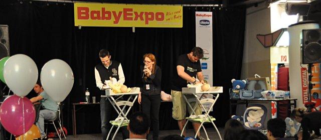 BabyExpo in der Wiener Stadthalle: Väter-Wickelwettbewerb